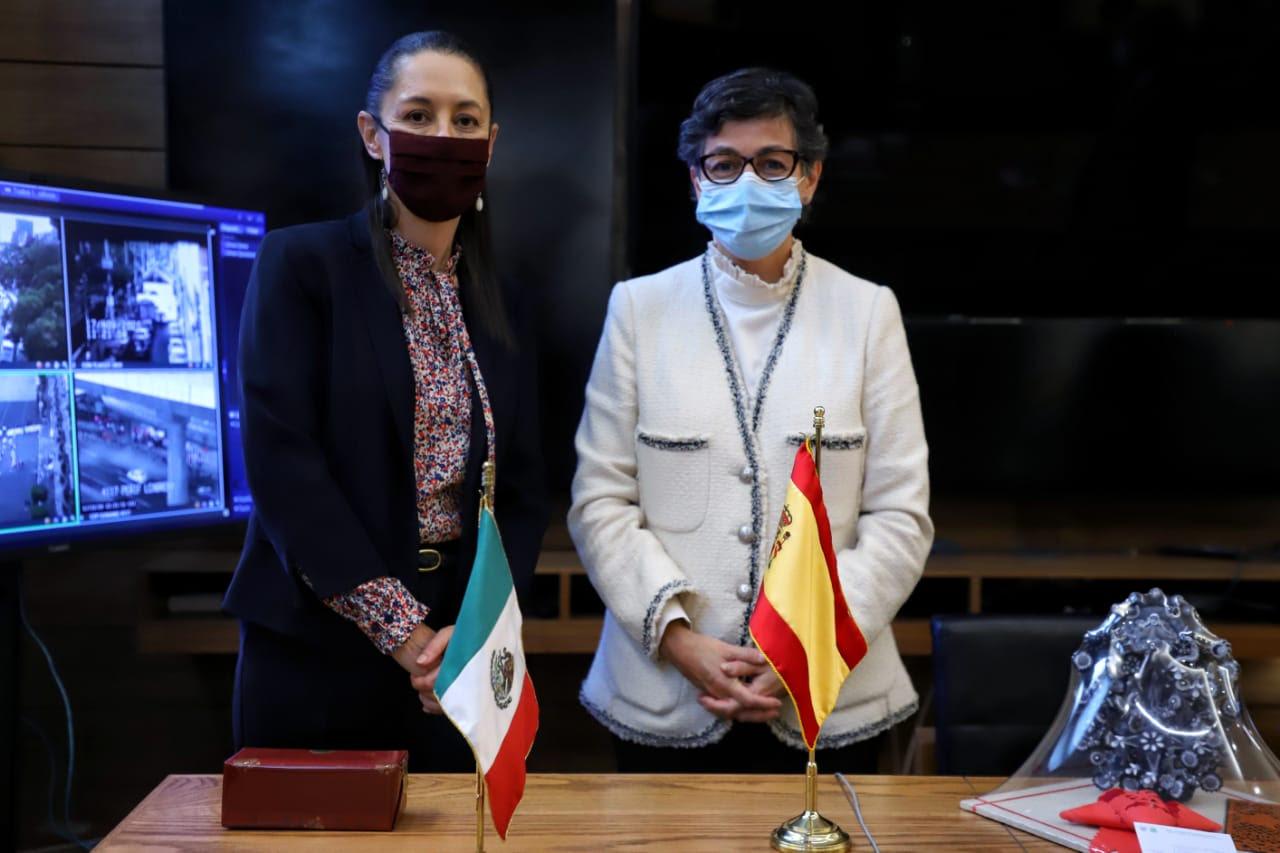 CLAUDIA SHEINBAUM SE REUNE CON MINISTRA DE ASUNTOS EXTERIORES DE ESPANA