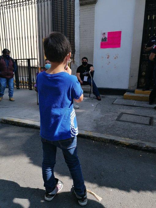 Protesta en la Segob