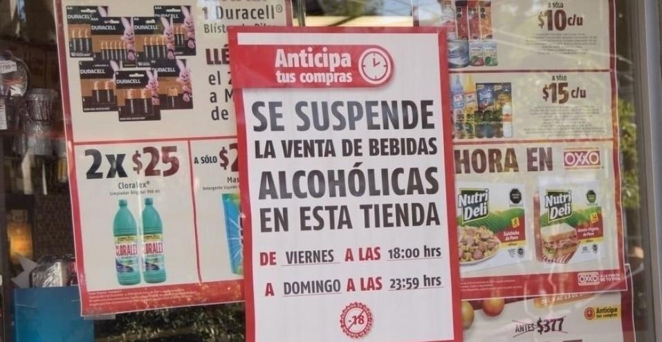 Se suspenden actividades relacionadas con venta de bebidas alcoholicas en ocho alcaldias del 29 al 31 de enero