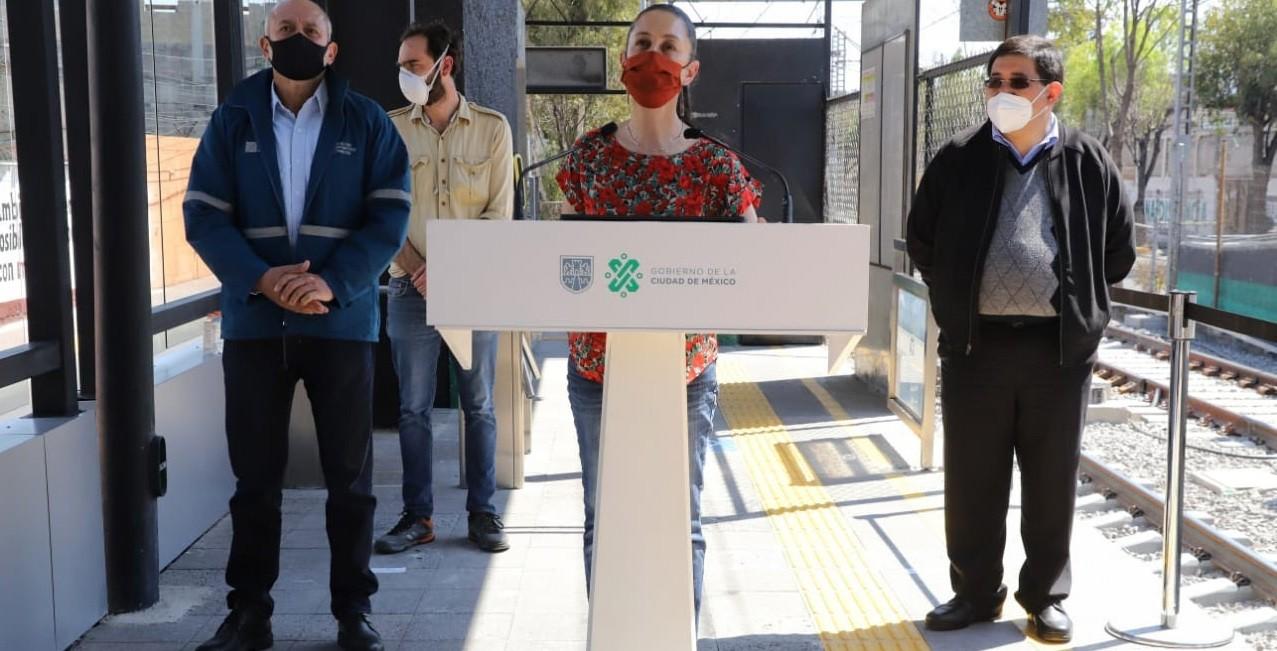 Dedica Claudia Sheinbaum reactivacion de segundo tramo del Tren Ligero Xochimilco Estadio Azeca a Avelino Mendez Rangel