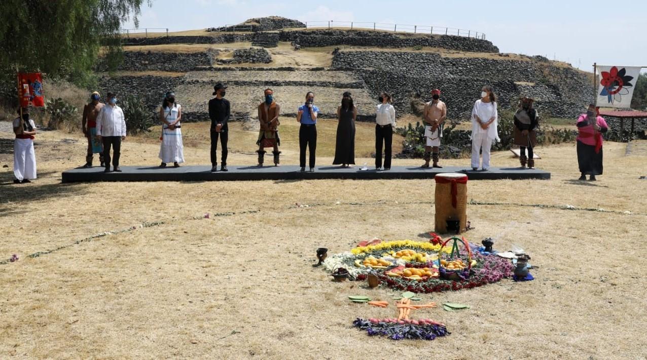 Preside Claudia Sheinbaum ceremonia del Equinoccio de Primavera en la Zona Arqueologica de Cuicuilco
