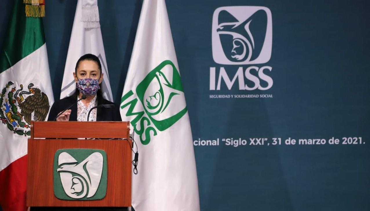 Resalta Claudia Sheinbaum atencion del IMSS a la poblacion durante emergencia sanitaria por Covid 19