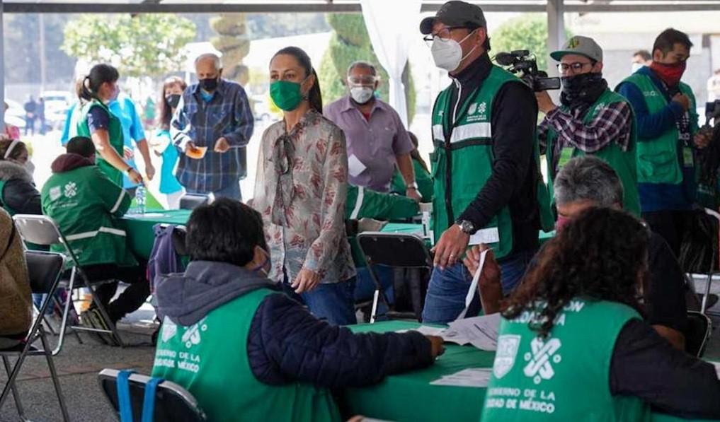 Supervisa Claudia Sheinbaum jornada de vacunacion contra Covid 19 de adultos mayores en Alcaldias Gustavo A. Madero e Iztapalapa