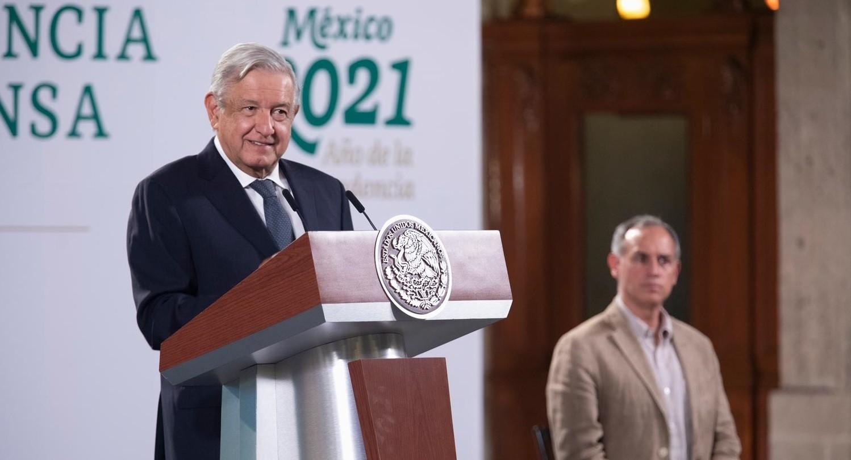 Destaca Lopez Obrador cifra record en aplicacion de dosis contra Covid 19 en un dia vacunacion ayuda a reducir mortalidad afirma