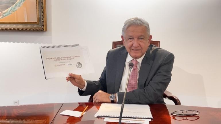 Destaca Lopez Obrador recaudacion estable contribuyentes ayudan al desarrollo del pais afirma