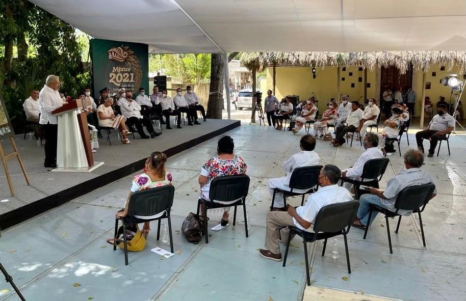 Discurso del presidente Andres Manuel Lopez Obrador durante la Ceremonia de peticion de perdon por agravios al pueblo maya