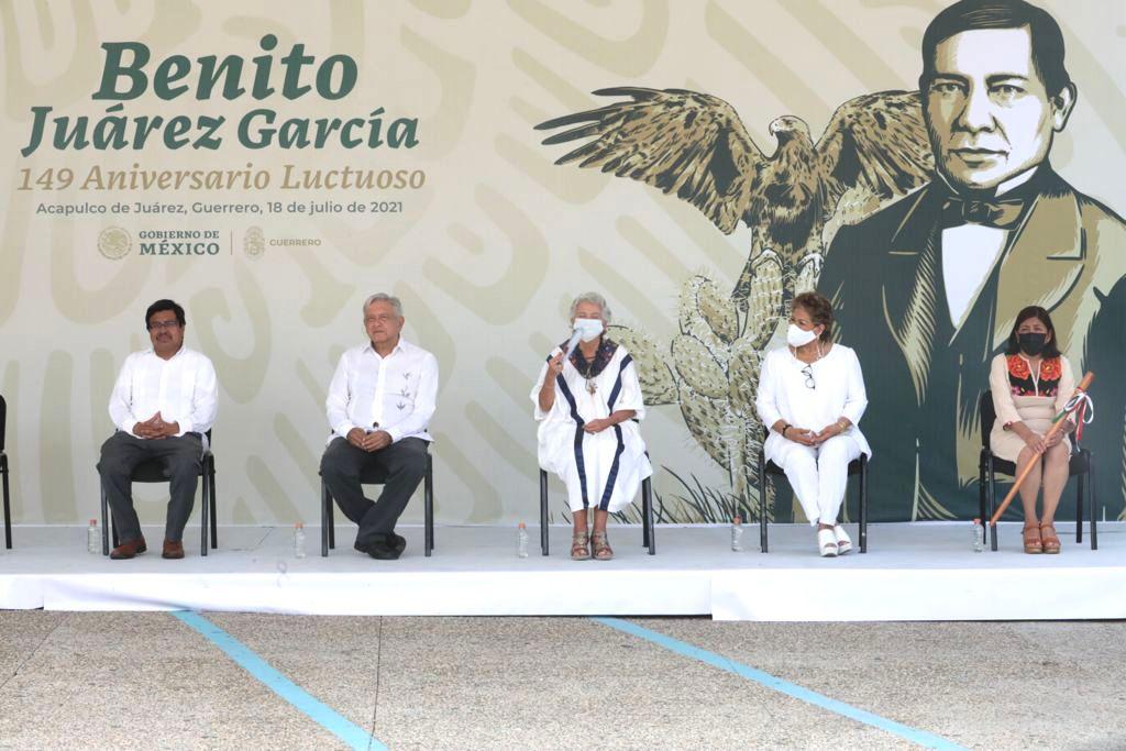 AMLO se reunio con Evelyn Salgado gobernadora electa de Guerrero