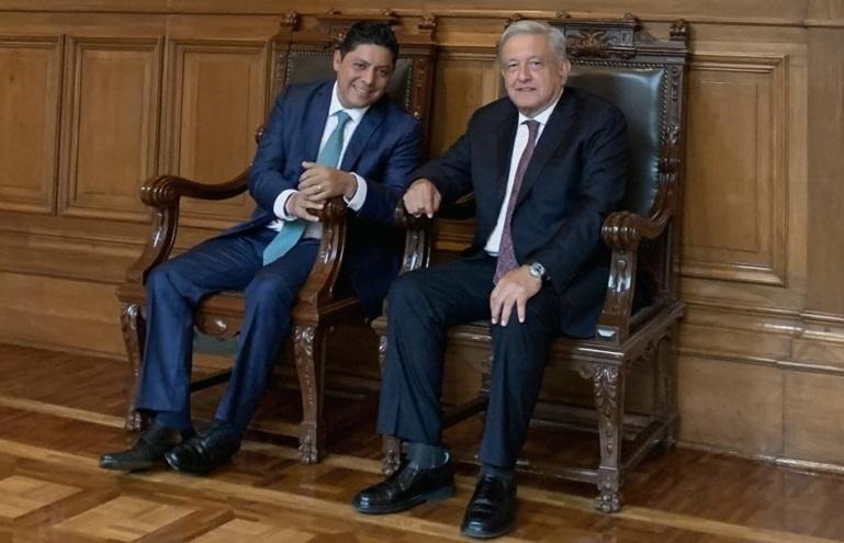 Lopez Obrador se reune con gobernador electo de San Luis Potosi