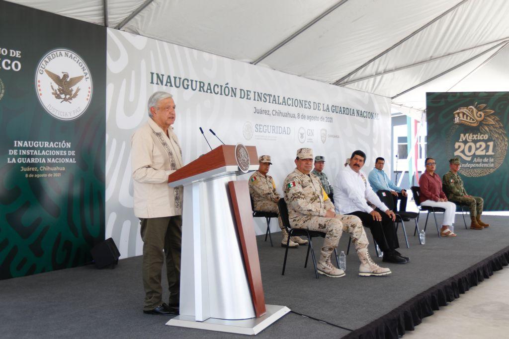 AMLO inauguro nuevo cuartel de la Guardia Nacional en Ciudad Juarez