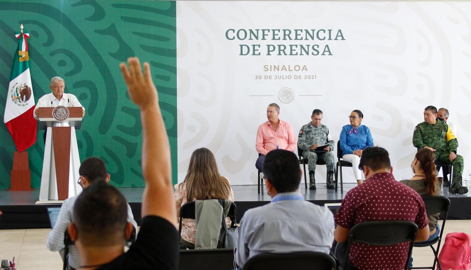En Sinaloa continuara estrategia de atencion a las causas de la inseguridad y la violencia afirma Lopez Obrador