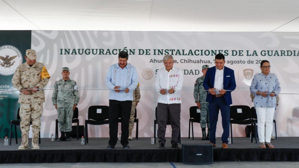 Lopez Obrador inaugura cuartel de la Guardia Nacional en Ahumada Chihuahua