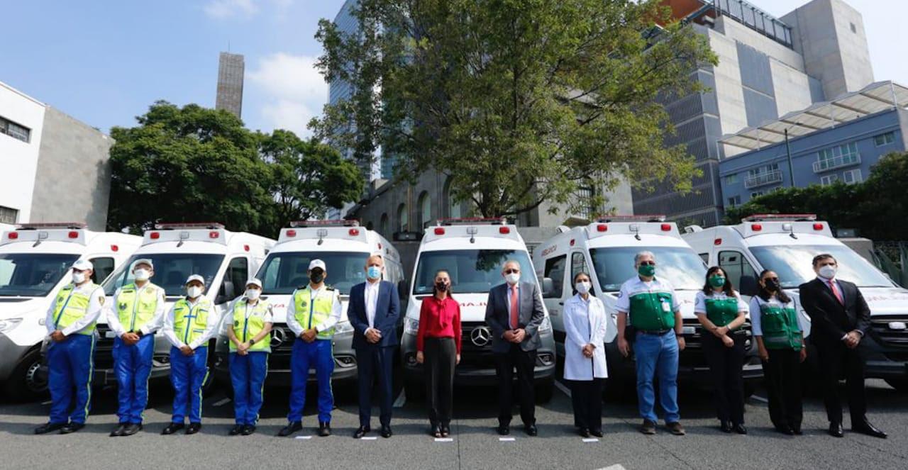 Recibe Gobierno De La Ciudad De Mexico 10 Ambulancias Donadas por el INSABI